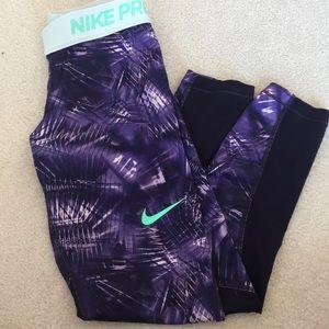 Nike girls purple yoga gym pants leggings S Small